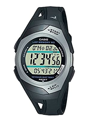 Casio - Black/Silver Phys Sports Running Watch - Men by Casio