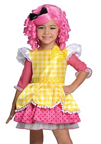 [Rubies Girls Lalaloopsy Crumb Sugar Cookie Halloween Costume Small] (Lalaloopsy Costumes For Girls)
