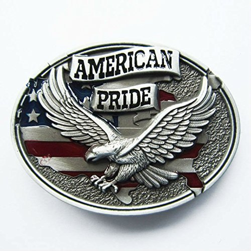 America Pride Eagle Flag Belt Buckle