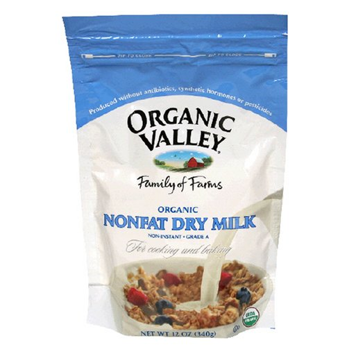 Organic Valley Organic Nonfat Dry Milk Powder, 12-Ounce Bags (Pack of 4)