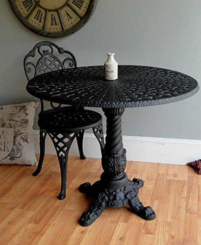 Cafe coffee shop restaurant porch GARDEN TABLE metal black old victorian style