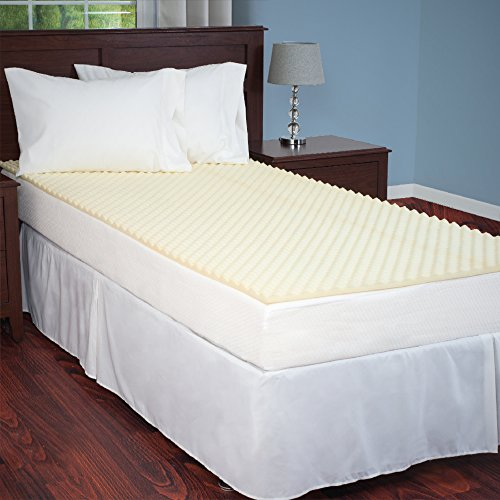 Lowest Price! Everyday Home Egg Crate Ventilated Foam Mattress Topper, Twin/X-Large