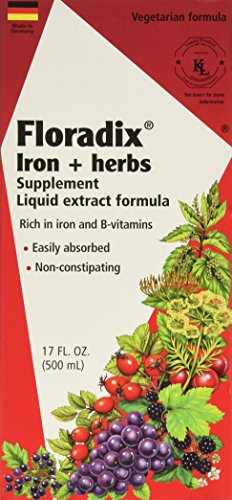 Flora Floradix Iron + Herbs, 17 oz (Pack of 2) (Floradix Iron 17 compare prices)