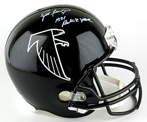 Signed Brett Favre Helmet - Throwback Authentic Pro 1991 R... - Autographed NFL Helmets