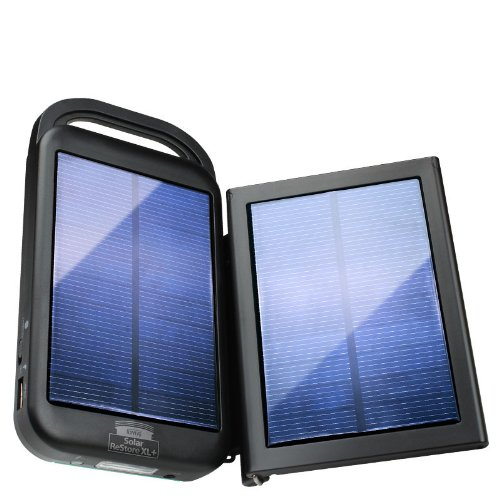 ReVIVE Solar ReStore XL+ 6000mAh Solar Powered Universal USB Battery Charger & Flashlight with Rapid-Charge Adapter Panel for Smartphones , Tablets , mp3 Players , Digital Cameras & More!