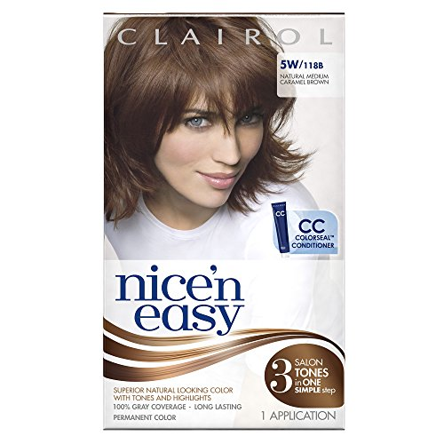 Clairol Nice 'N Easy Hair Color 118b Natural Medium Caramel Brown 1 Kit