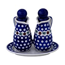 Original Bunzlauer Ceramic Vinegar and Oil Dispenser Set Design 41
