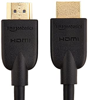 AmazonBasics High-Speed HDMI Cable - 6 Feet (2-Pack) (Latest Standard)