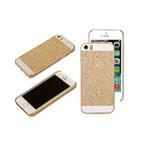 True Collection iPhone 5 / iPhone 5s / iPhone SE - Shiny Crystal Bling Glitter Thin Hard Back Case - GOLD