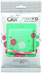 Godrej Aer Pocket Bathroom Fragrance - 10 g (Morning Misty Meadows) PACK OF 6