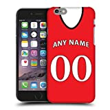 Case Fun Personalised Manchester United Football Shirt, Any Name, Any Number Snap-on Hard Back Case Cover for Apple iPhone 6 / 6s (4.7 inch)