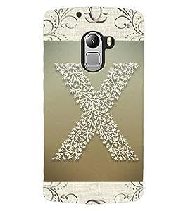 "ColourCraft Alphabet ""X"" Design Back Case Cover for LENOVO VIBE K4 NOTE"