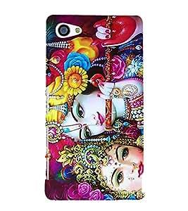 Radha Krishna 3D Hard Polycarbonate Designer Back Case Cover for Sony Xperia Z5 Compact :: Sony Xperia Z5 Mini
