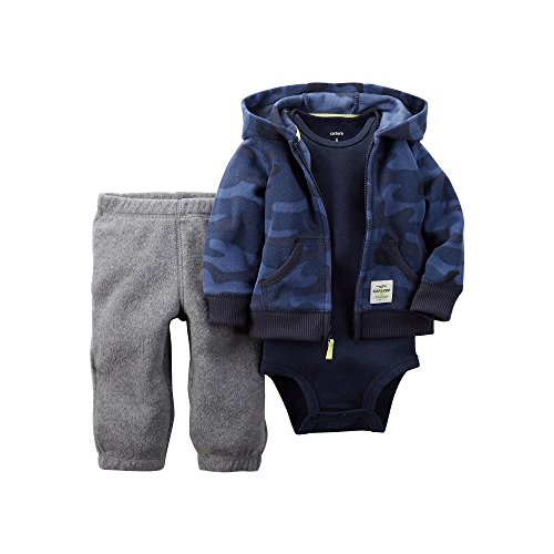 Carters Hoodie, Bodysuit and Pants - Baby Boys - Size 6m