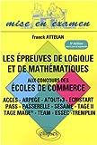echange, troc Franck Attelan - Epreuve de Logique & de Mathematiques Cinquième Edition