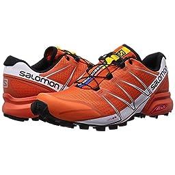 Salomon Speedcross Pro Trail Running Shoes - Men\'s - Tomato White Black - M: US 11 / UK 10.5 / EU 45 1/3