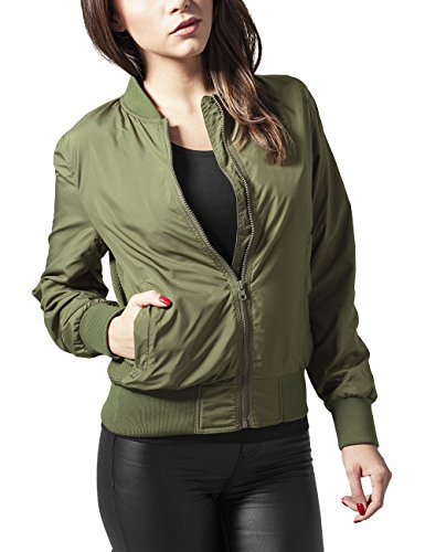 Urban Classics Ladies Light Bomber Jacket, Giacca Donna, Grün (Olive 176), 48