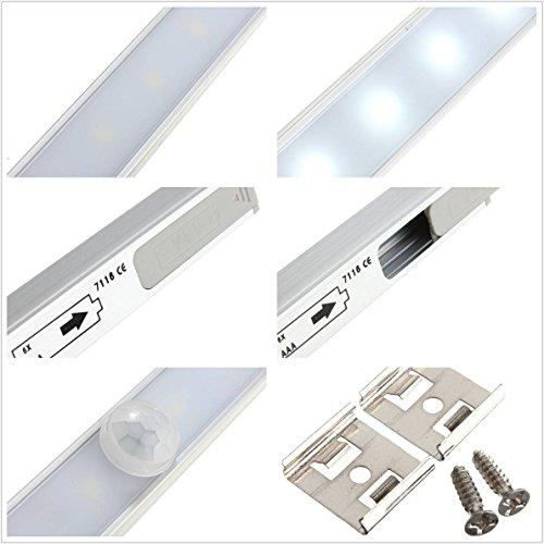 kingso applique d tecteur de mouvement pile veilleuse sans fil lampe placard avec 20 leds. Black Bedroom Furniture Sets. Home Design Ideas