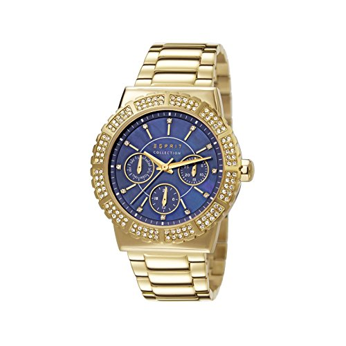 Esprit  ANGELIA - Reloj de cuarzo para mujer, con correa de acero inoxidable, color dorado