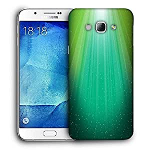 Snoogg Multicolor Background Printed Protective Phone Back Case Cover For Samsung Galaxy A8
