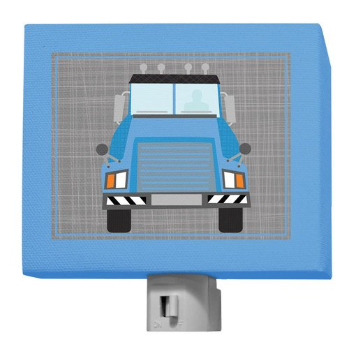"Oopsy Daisy Ways To Wheel - Mac Truck Night Light, Gray/Blue, 5"" x 4"""
