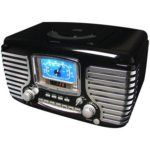 wenterday sale crosley radio cr612 bk corsair alarm clock radio black onsale. Black Bedroom Furniture Sets. Home Design Ideas