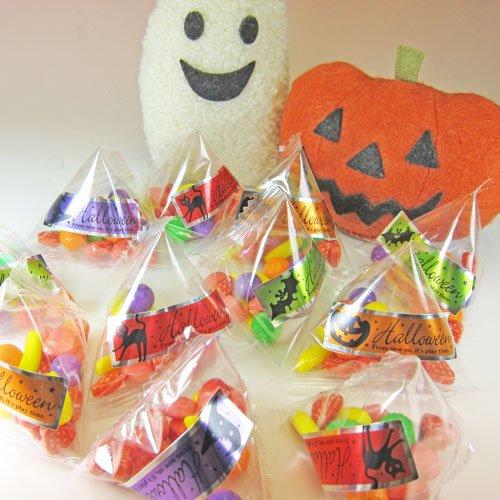 ハロウィン (Halloween) テトラパック フルーツラムネ (50個入り) 配る用 お菓子セット (かぼちゃ おばけ)