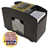 51M8tveequL. SL160  4 Deck Card Shuffler w/4 Free Decks of Bicycle Playing Cards by Brybelly