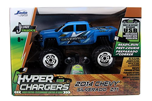 Jada Toys HyperChargers Just Truck 2014 Chevy Silverado R/C Vehicle, Blue (Chevy Toy Trucks compare prices)