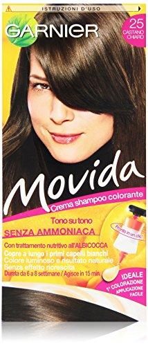 Garnier Garnier Movida Crema Shampoo Colorante, 25 Castano Chiaro