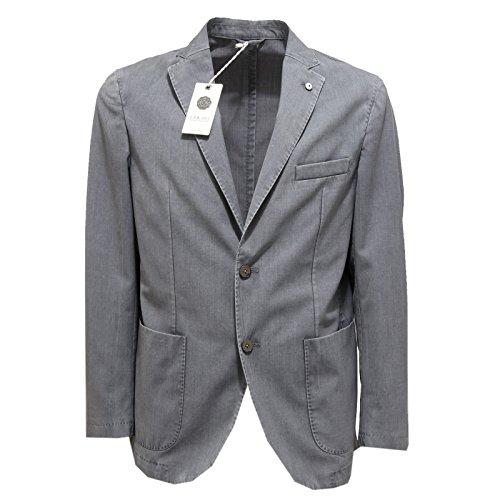 4023M giacca uomo grigia L.B.M. 1911 slim fit lana giacche men coats jackets [52 R]