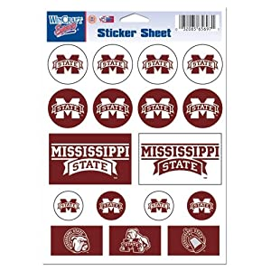 Buy Mississippi State Bulldogs Official NCAA 5x7 Sticker Sheet by Wincraft by WinCraft