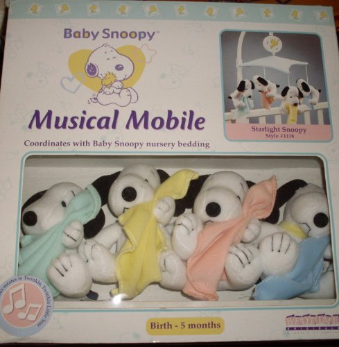 Baby Snoopy Nursery Mobile – Lambs & Ivy – My Little Snoopy – Blankets