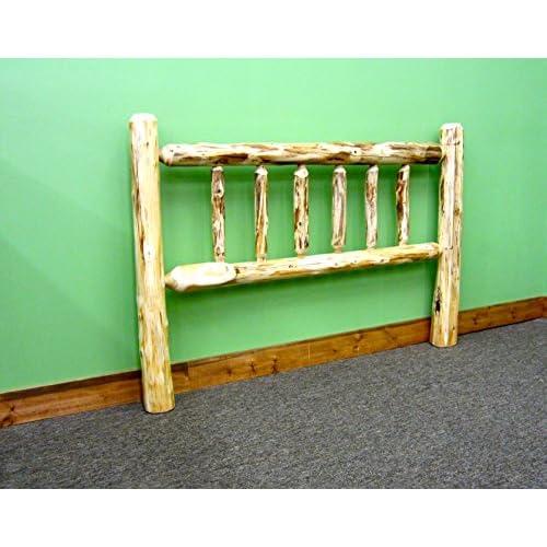 Midwest Log Furniture - Rustic Log Headboard - King