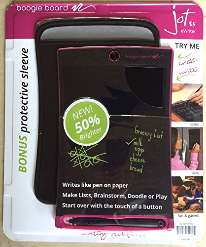 Review Of Boogie Board Jot 8.5 LCD eWriter Pink Writing Tablet + Neoprene Sleeve + Stylus