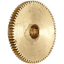 "Brass Pinion Gear 64P 20 Deg Pressure Angle 72Teeth x .250"" Bore x 1.125"" Pitch Dia"
