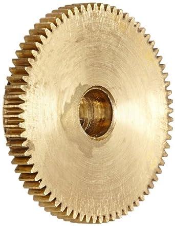 """Brass Pinion Gear 64P 20 Deg Pressure Angle 72Teeth x .250"""" Bore x 1.125"""" Pitch Dia"""