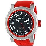 Reloj Red Line para hombre, RL-50049-01-RDS Torque, deportivo, con dial negro y pulsera de silicona roja.