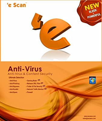 eScan Anti-virus for Home User 1 user 1 year [Download]