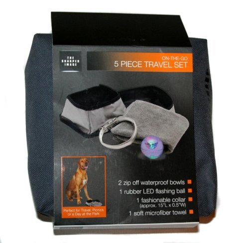 the-sharper-image-on-the-go-5-piece-pet-travel-bowl-set-by-the-sharper-image