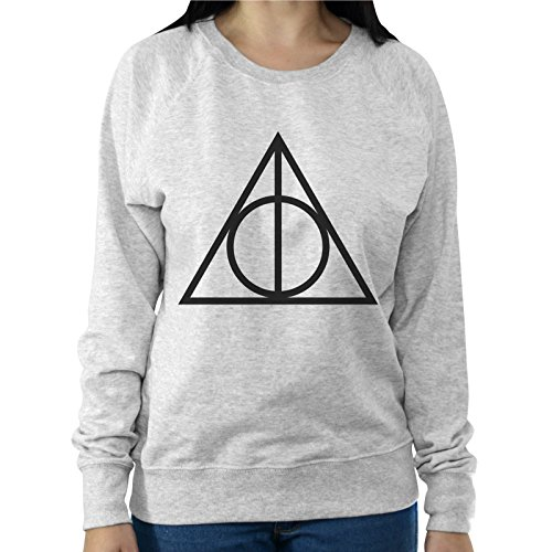 Felpa Leggera Donna Simbolo Deathly Hallows Harry Potter