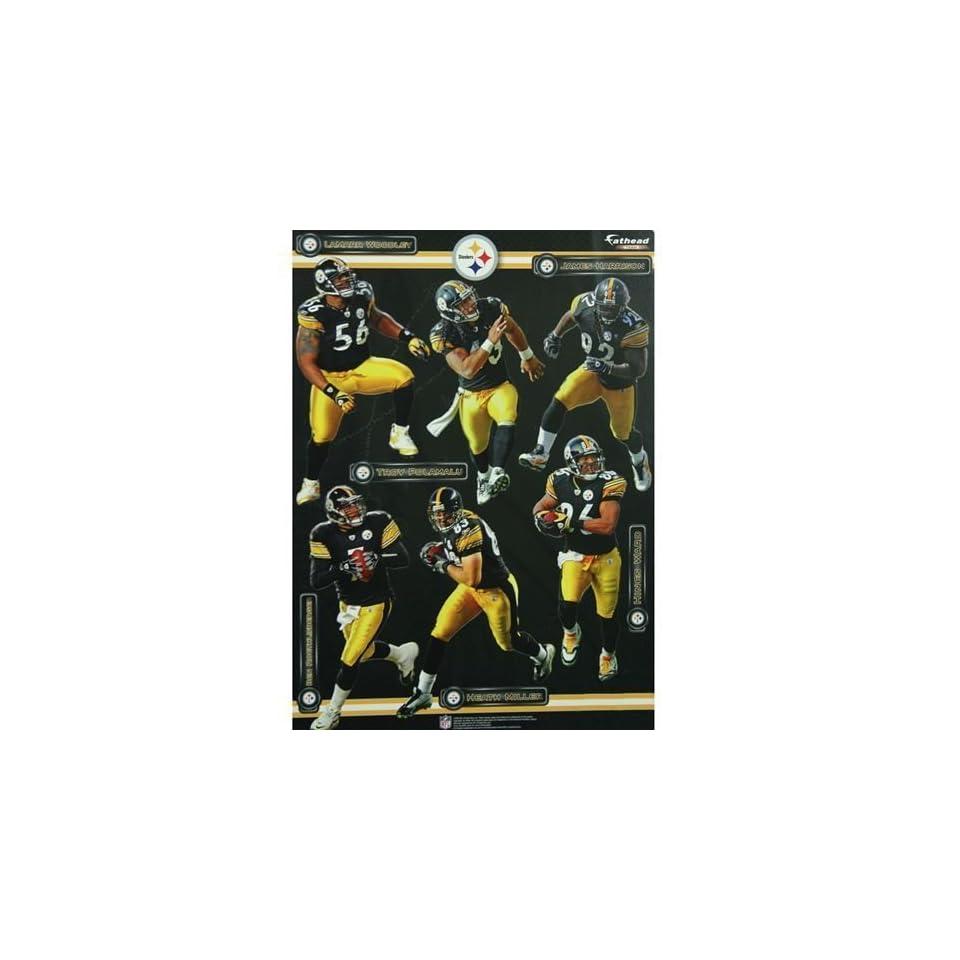 Pittsburgh Steelers Team Fathead Wall Decal Set
