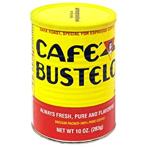 Cafe Bustelo Coffee Dark Roast for Espresso, 10-Ounce Cans (Pack of 4)