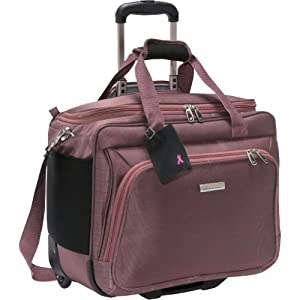 mcbrine luggage office on the go laptop bag on wheels rose office products. Black Bedroom Furniture Sets. Home Design Ideas