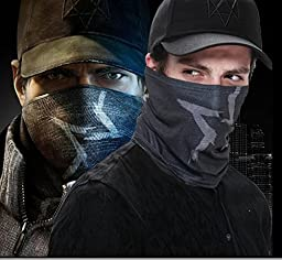 Cosplay Cool Men Game For Aiden Pearce Costume Watch Dogs Warm Face Mask Neck