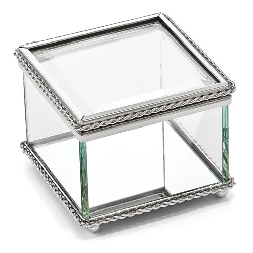 Square Glass Keepsake Box