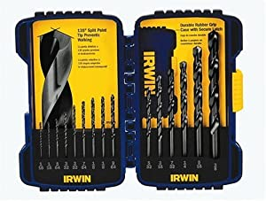 Irwin Industrial Tools 314015 Black Oxide Drill Bit Set, 15-Piece
