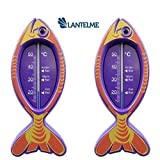2 Stück Kinder Bad Thermometer Badethermometer Fisch flieder bedruckt aus