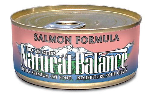 Natural Balance Canned Cat Food, Salmon Recipe, 24 x 6 Ounce Pack
