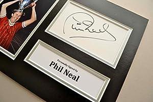 Phil Neal Signed A4 Photo Display Genuine Liverpool Autograph Memorabilia + COA from Up North Memorabilia